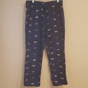 J. Crew Flannel Lounge Pants W/Dog Print